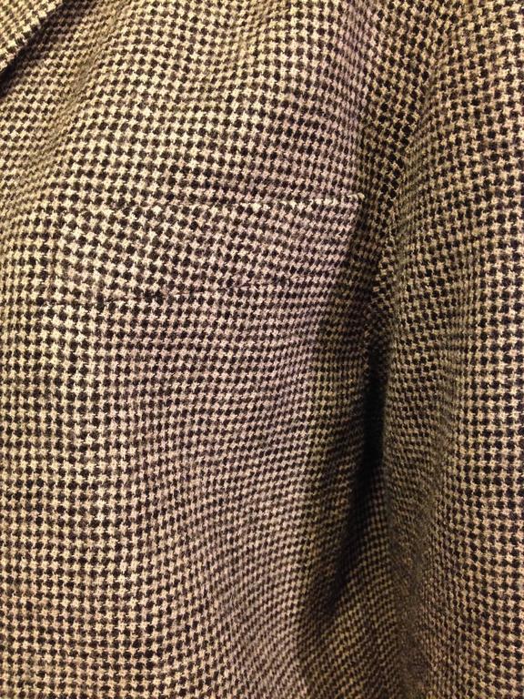 Balenciaga Brown Houndstooth Coat For Sale 1