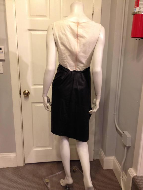 Ann Demeulemeester Black Leather Wrap Skirt In Excellent Condition For Sale In San Francisco, CA