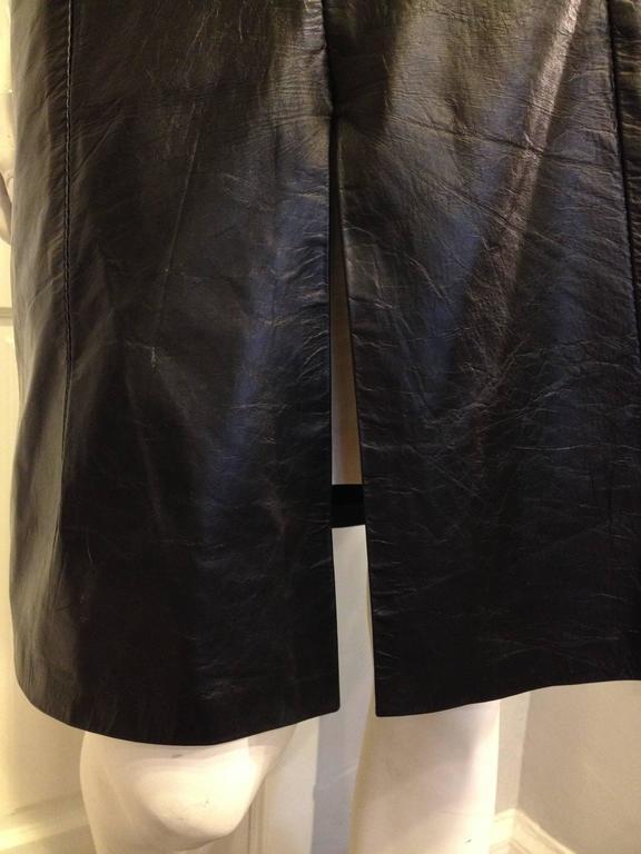 Ann Demeulemeester Black Leather Slit Skirt 5