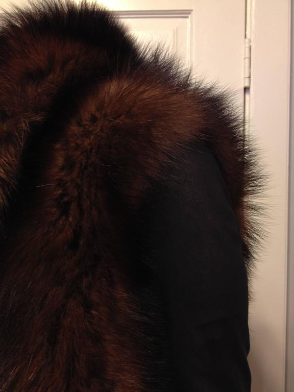 Rick Owens Brown Fishercat Fur Wrap Jacket 6