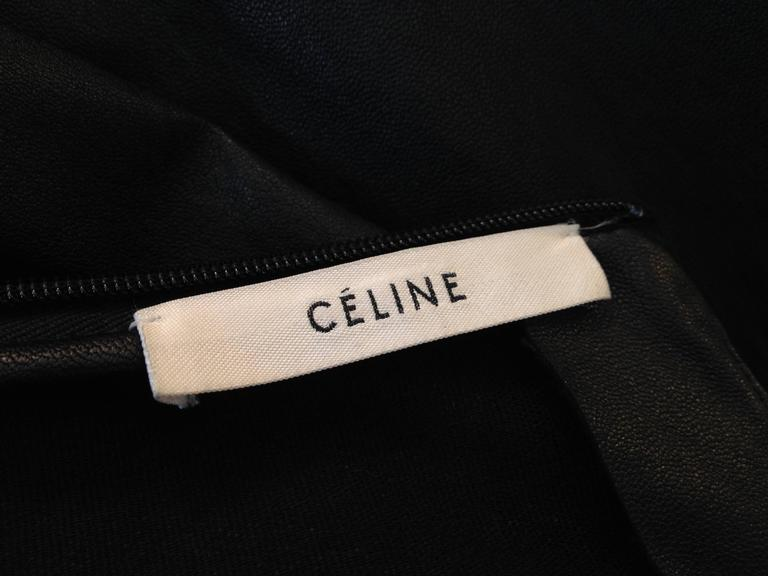 Celine Black Leather T-Shirt For Sale 4