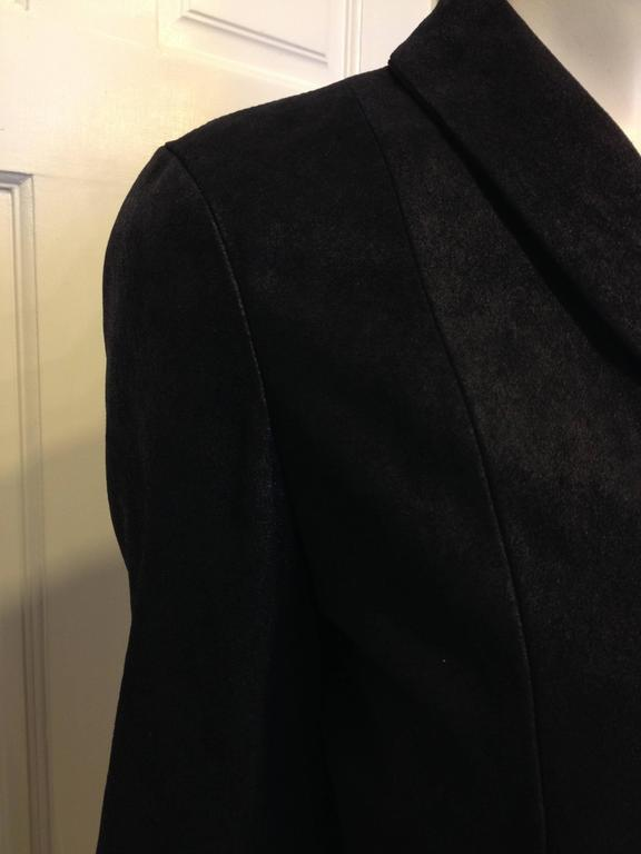 The Row Black Cropped Nubuck Jacket For Sale 1