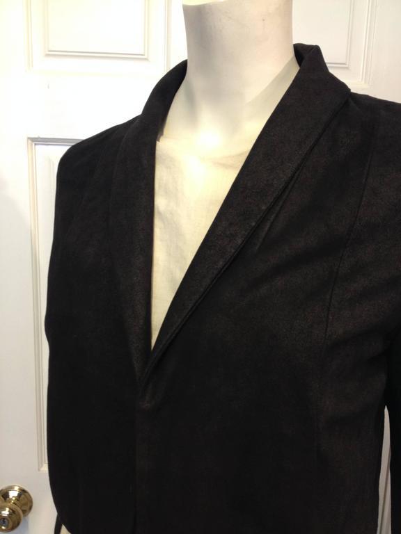 The Row Black Cropped Nubuck Jacket 4