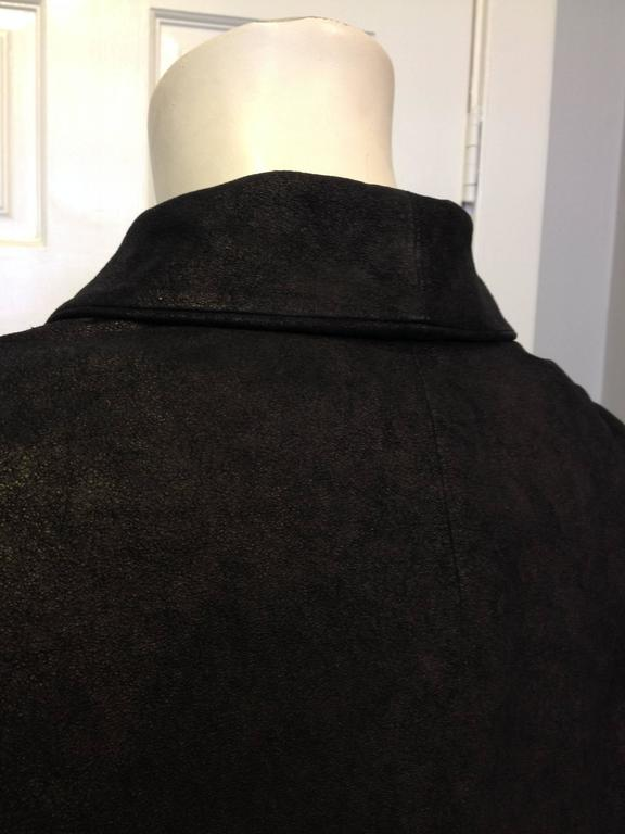 The Row Black Cropped Nubuck Jacket For Sale 2