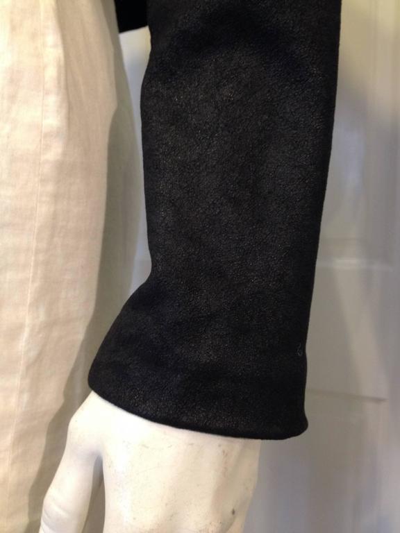 The Row Black Cropped Nubuck Jacket 8