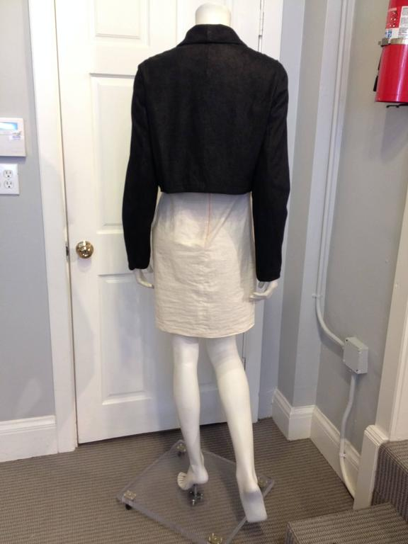 The Row Black Cropped Nubuck Jacket In Excellent Condition For Sale In San Francisco, CA