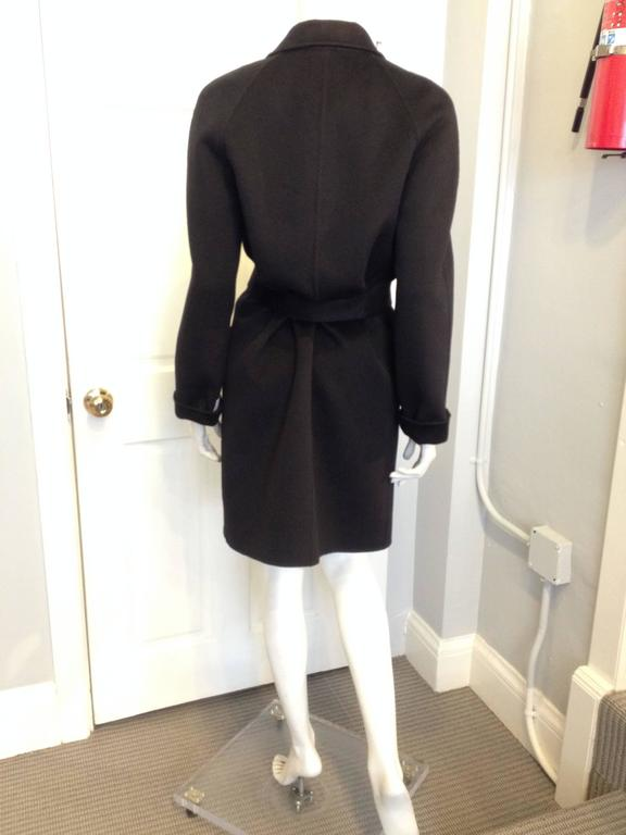 Michael Kors Black Belted Wool Coat at 1stdibs