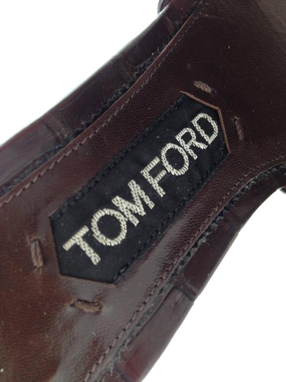 Tom Ford Brown Crocodile Wedges For Sale 3