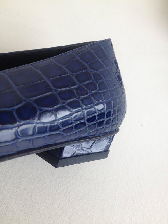 Roger Vivier Blue Crocodile Flats For Sale 1