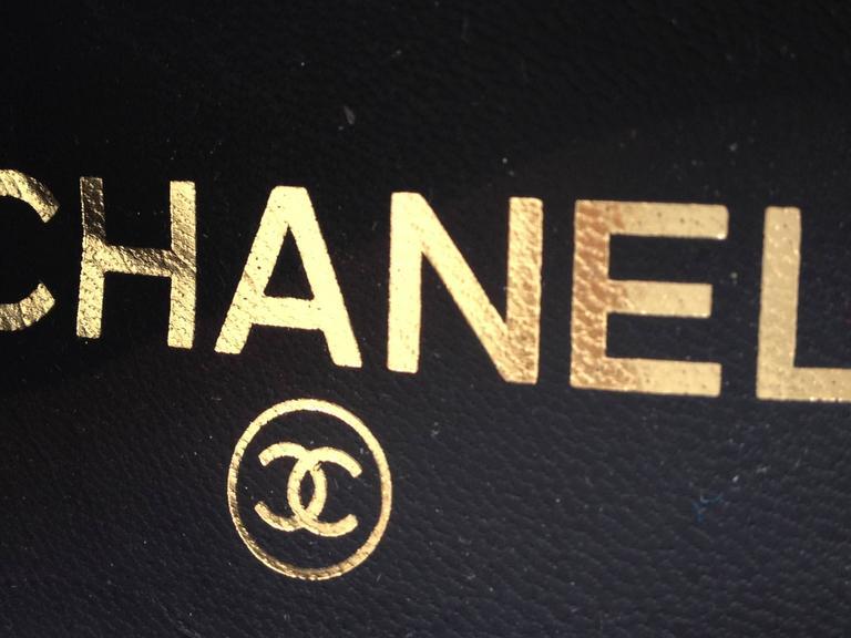 Chanel Black Patent Leather Cap-Toe Pumps 8