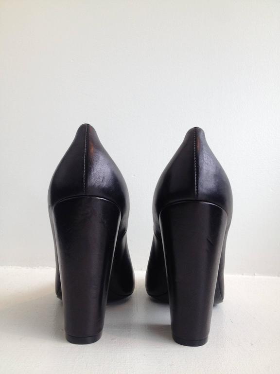 Chanel Black Patent Leather Cap-Toe Pumps 4