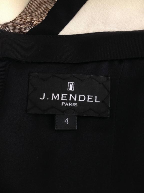 J. Mendel Cream Cocktail Dress 10