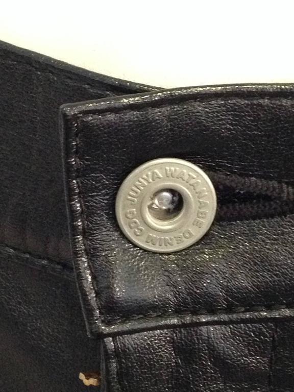 Junya Watanabe Black Resin-Coated Jeans For Sale 5