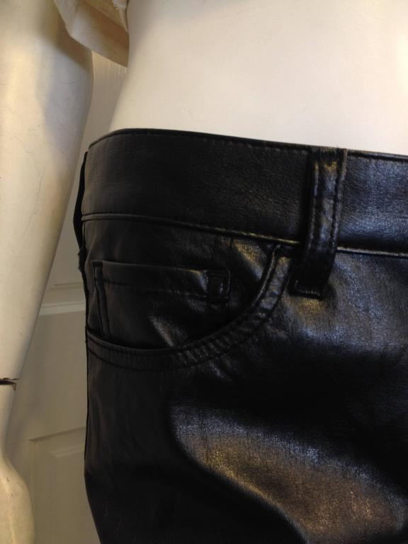 Junya Watanabe Black Resin-Coated Jeans For Sale 2