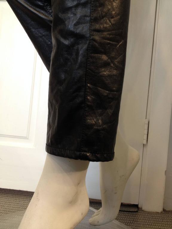Junya Watanabe Black Resin-Coated Jeans For Sale 3