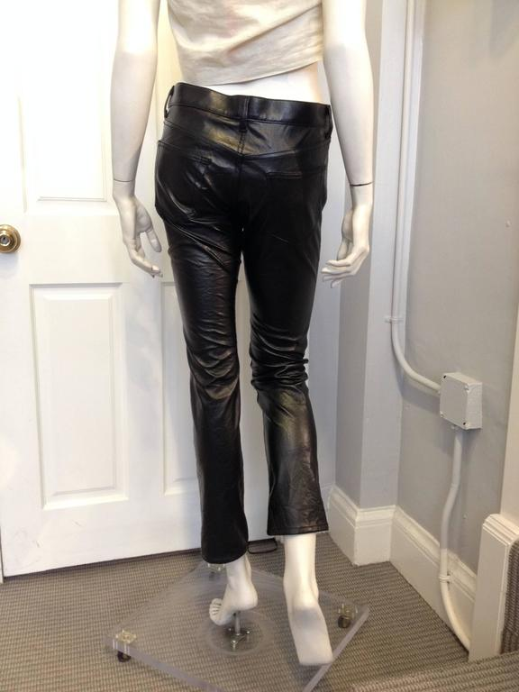 Junya Watanabe Black Resin-Coated Jeans In New never worn Condition For Sale In San Francisco, CA