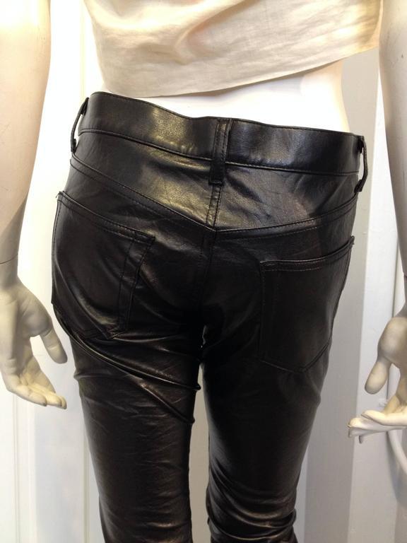 Junya Watanabe Black Resin-Coated Jeans For Sale 1