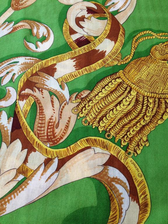 "Hermes Silk and Cashmere Le Mors ""a La Conetable"" Shawl 140cm 5"