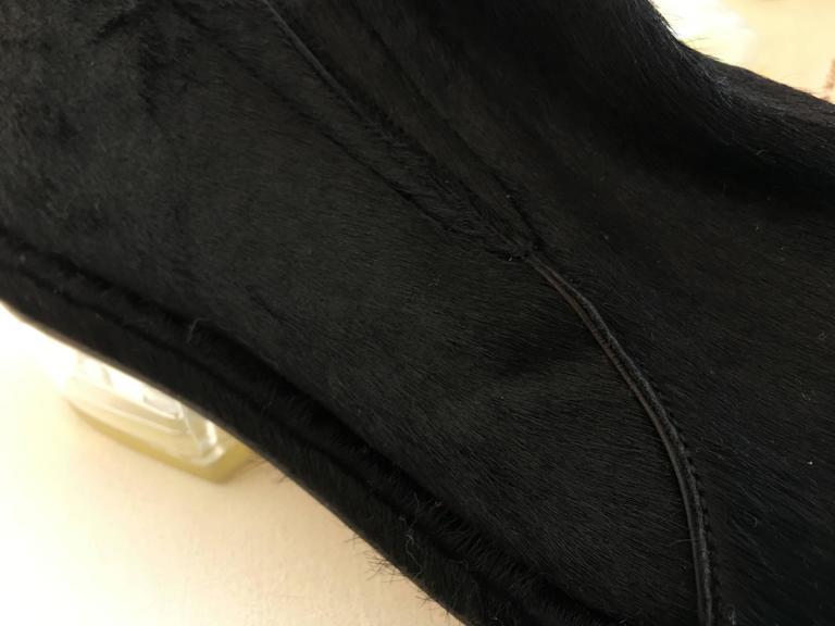 Simone Rocha Black Pony Hair Shoes (39) For Sale 1