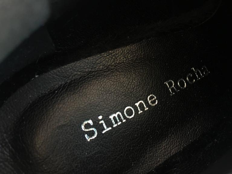Women's Simone Rocha Black Pony Hair Shoes (39) For Sale