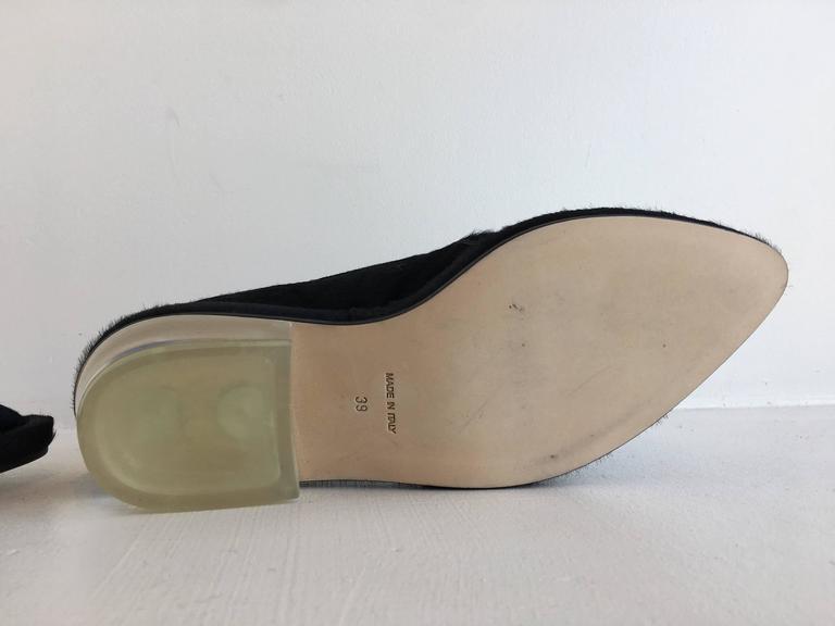 Simone Rocha Black Pony Hair Shoes (39) For Sale 2