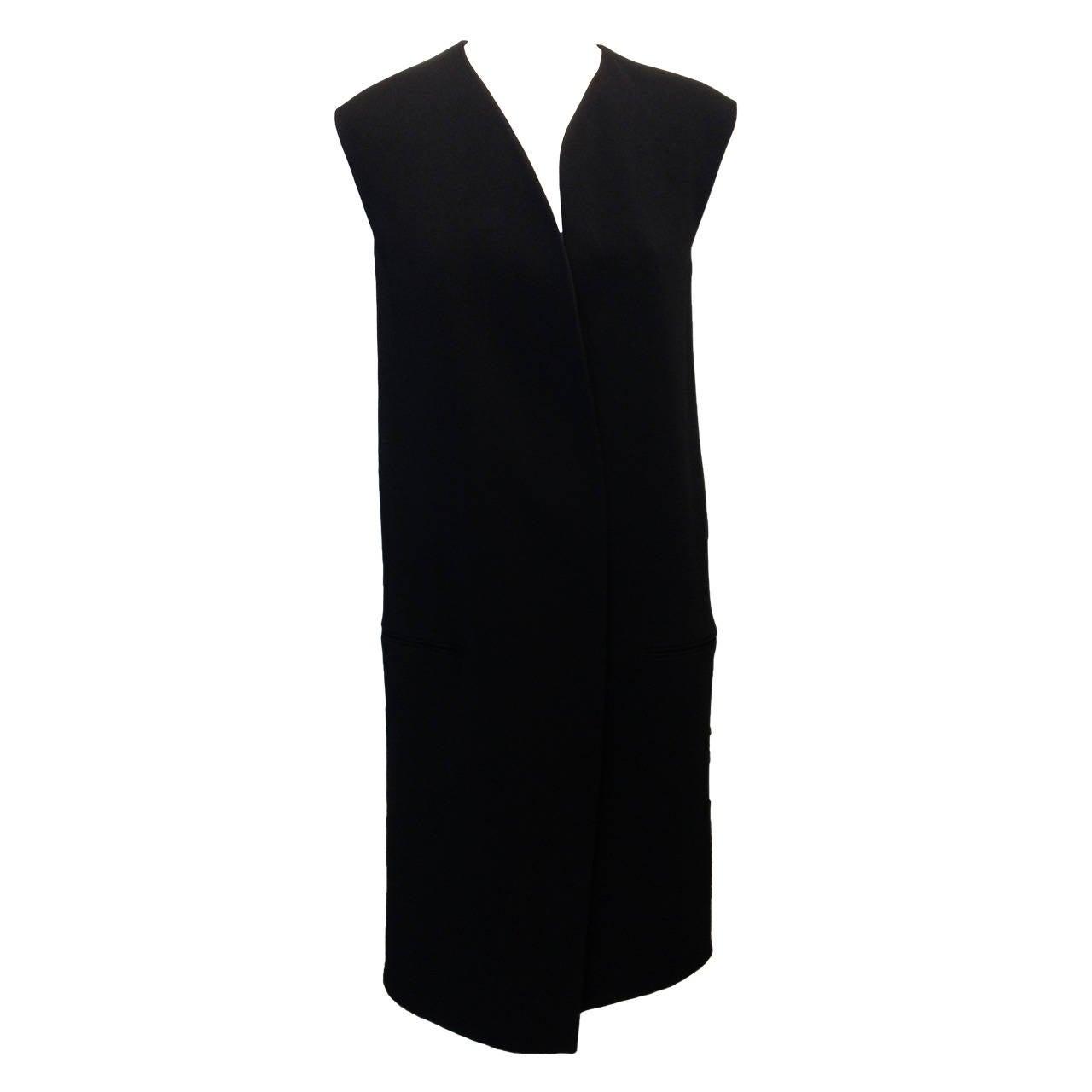 Celine Black Long Vest 1