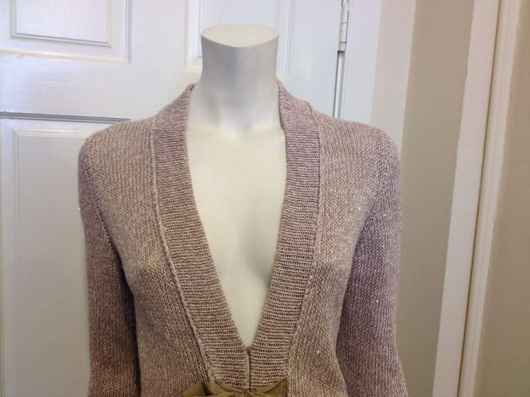 Brunello Cucinelli Oatmeal Cardigan at 1stdibs