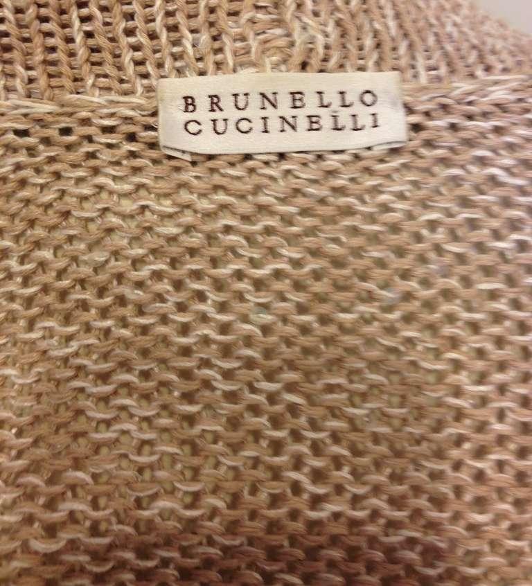Brunello Cucinelli Oatmeal Cardigan 7