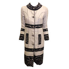 Proenza Schouler Embroidered Linen Coat