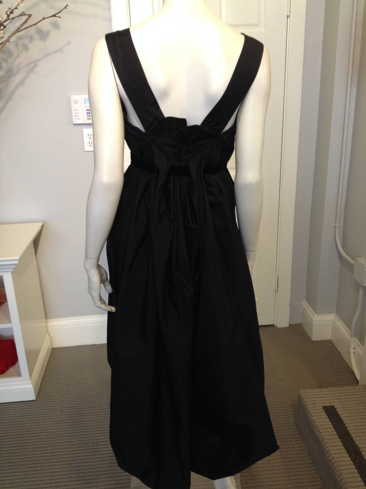 Yves Saint Laurent Black Cocktail Dress 3
