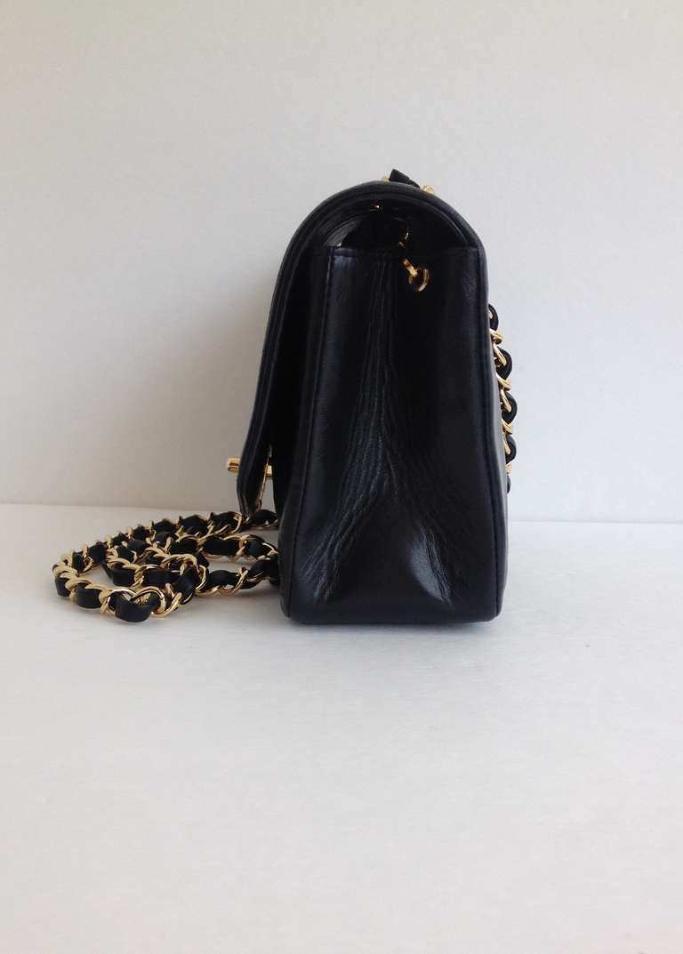 Chanel Black Leather Quilted Purse At 1stdibs