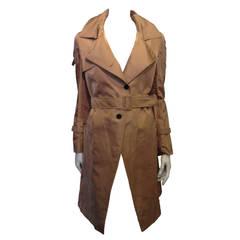 Valentino Khaki Silk Trench Coat