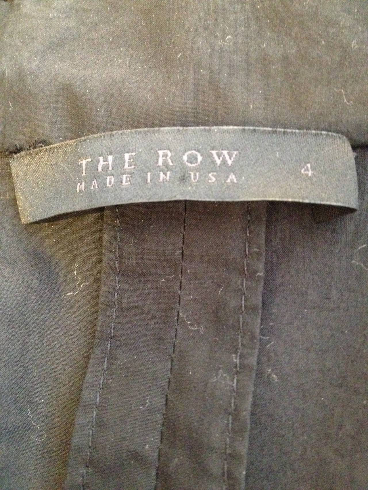 The Row Black Cotton Trench Coat For Sale 2