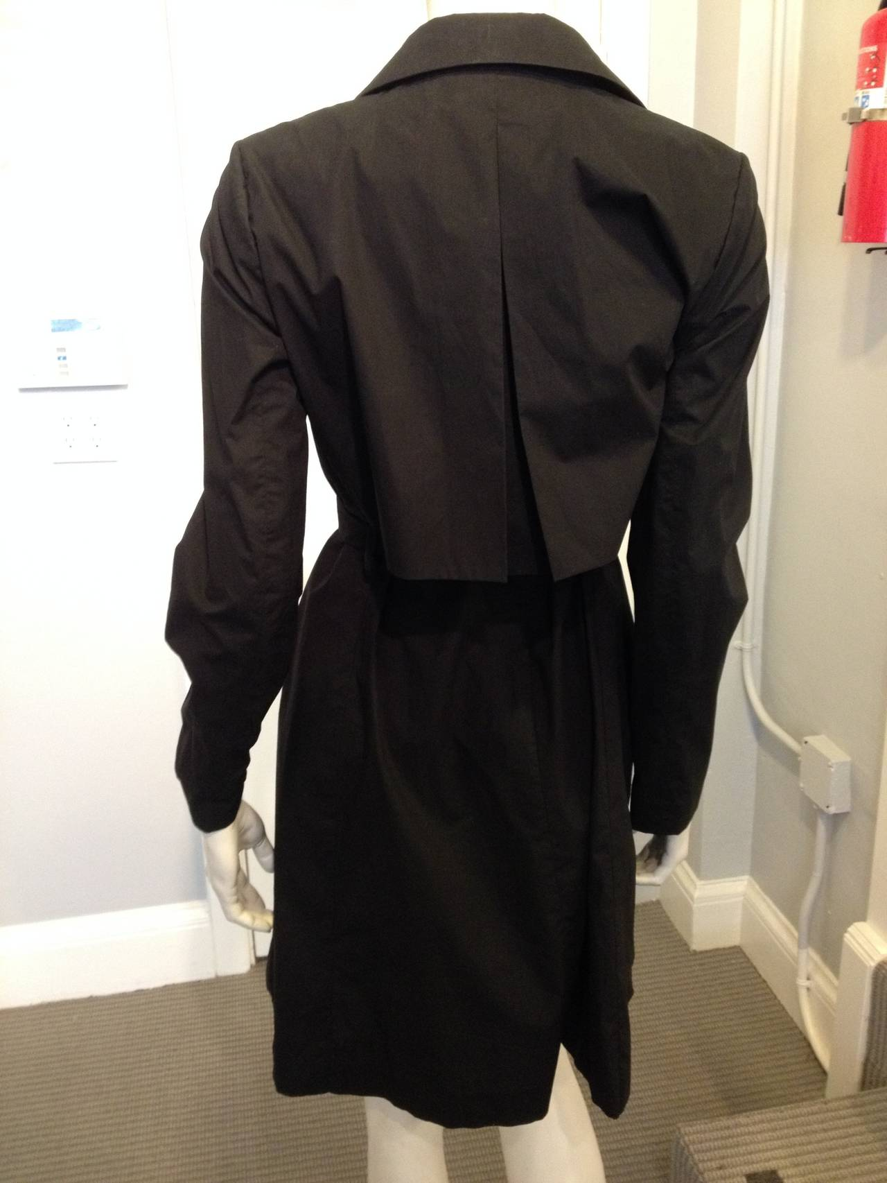 Women's The Row Black Cotton Trench Coat For Sale