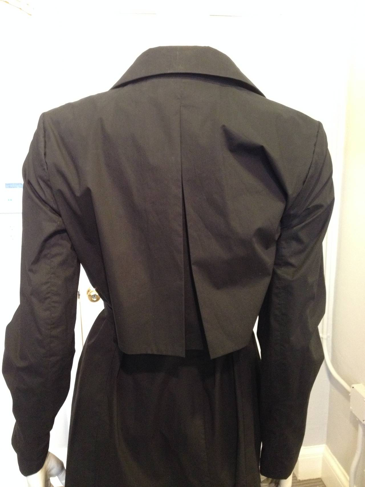 The Row Black Cotton Trench Coat For Sale 1
