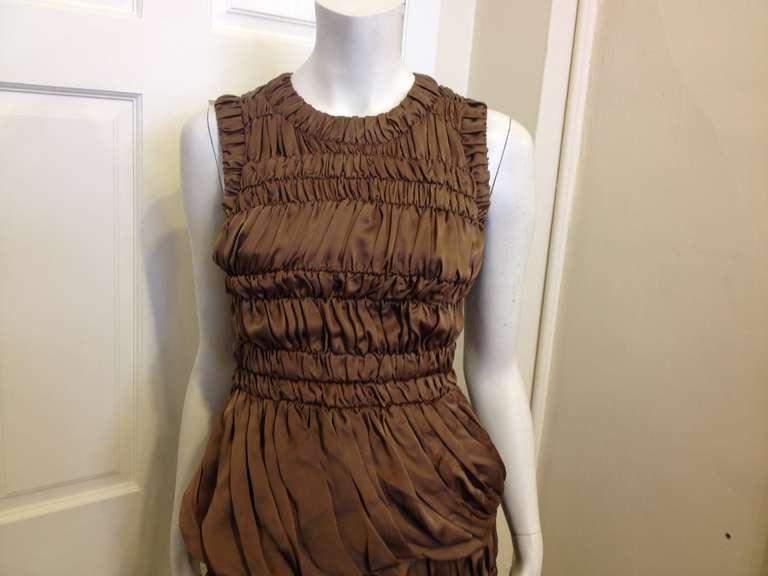 Burberry Prorsum Bronze Billowy Dress 2