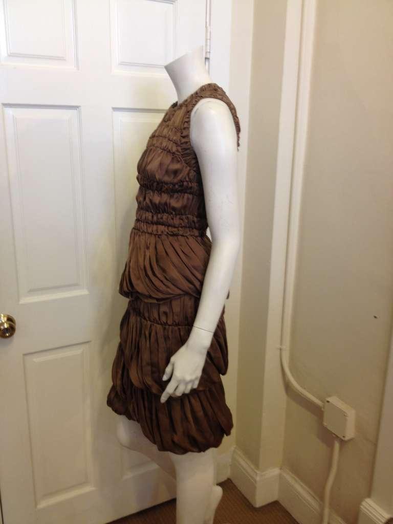 Burberry Prorsum Bronze Billowy Dress 3