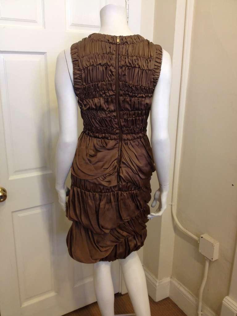 Burberry Prorsum Bronze Billowy Dress 4