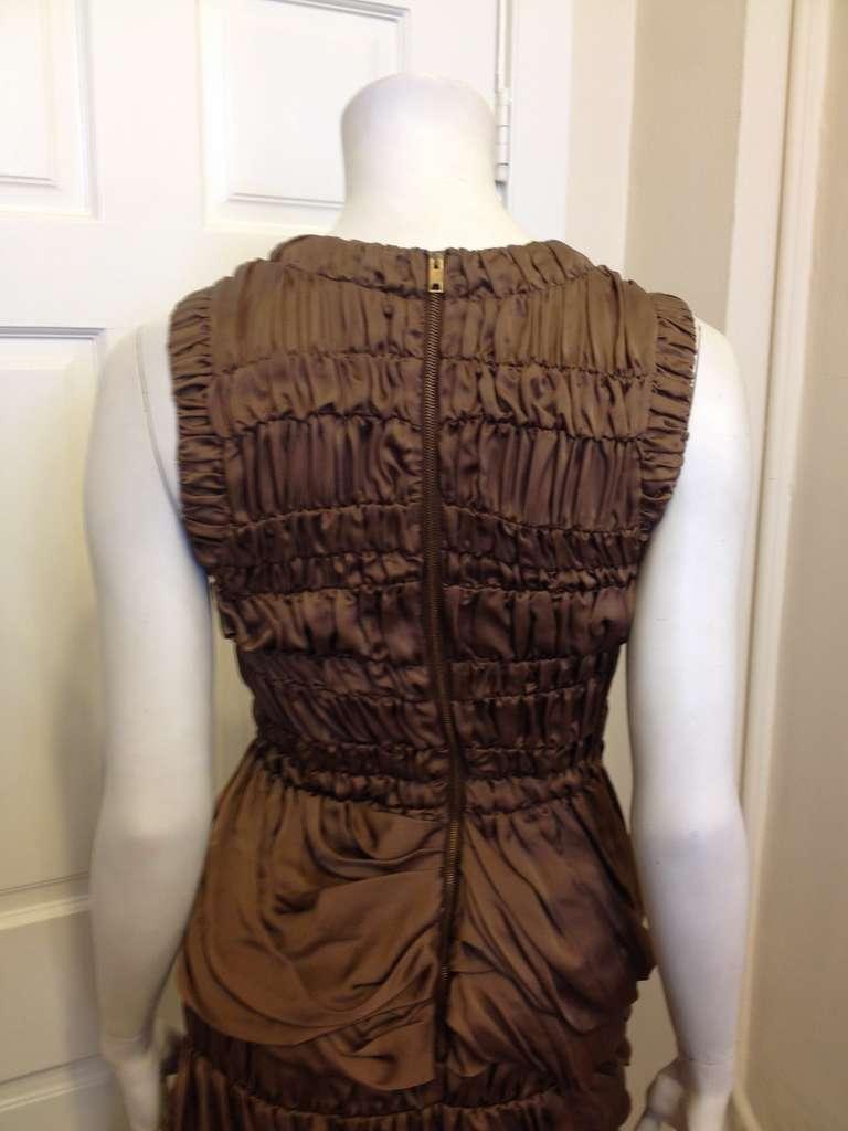 Burberry Prorsum Bronze Billowy Dress 5