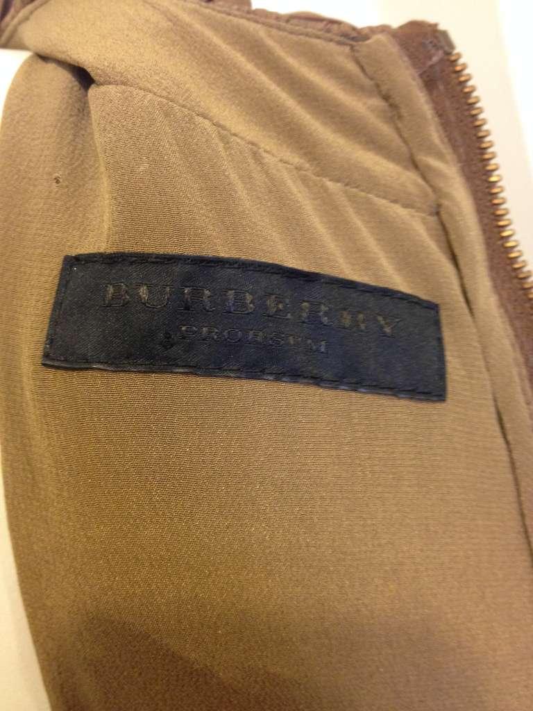 Burberry Prorsum Bronze Billowy Dress 6