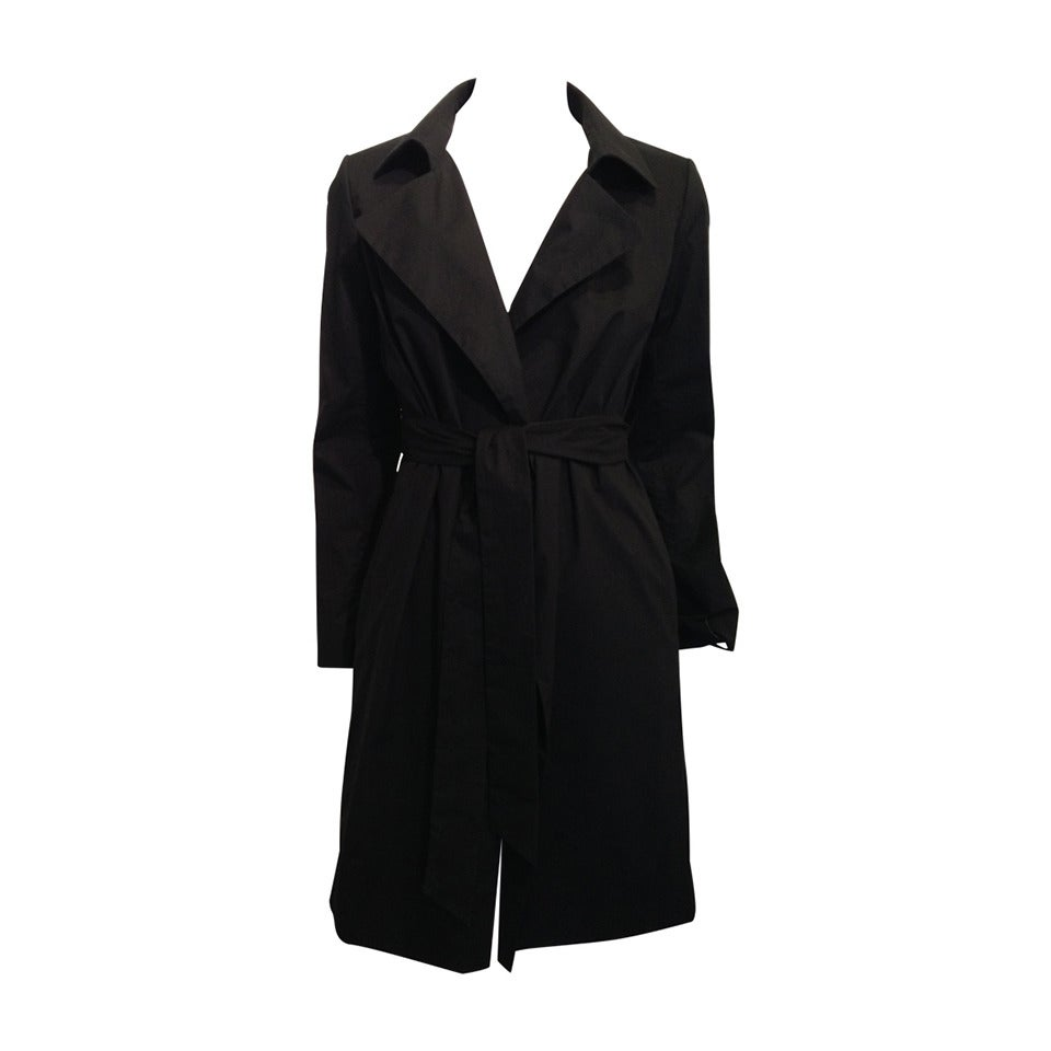 The Row Black Cotton Trench Coat For Sale