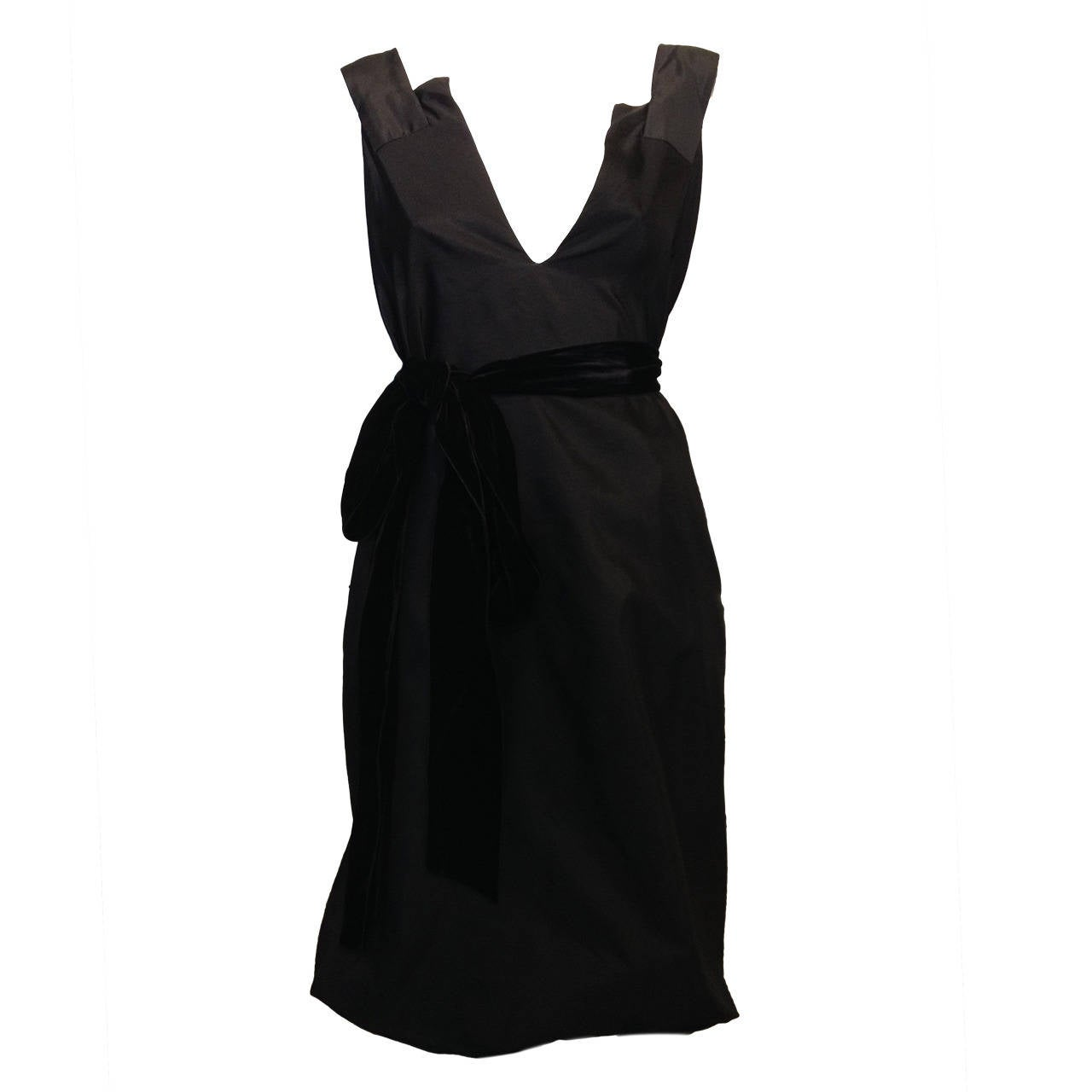 Yves Saint Laurent Black Cocktail Dress 1