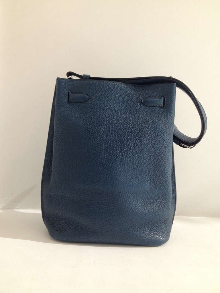 Hermes So Kelly Teal Bag 4