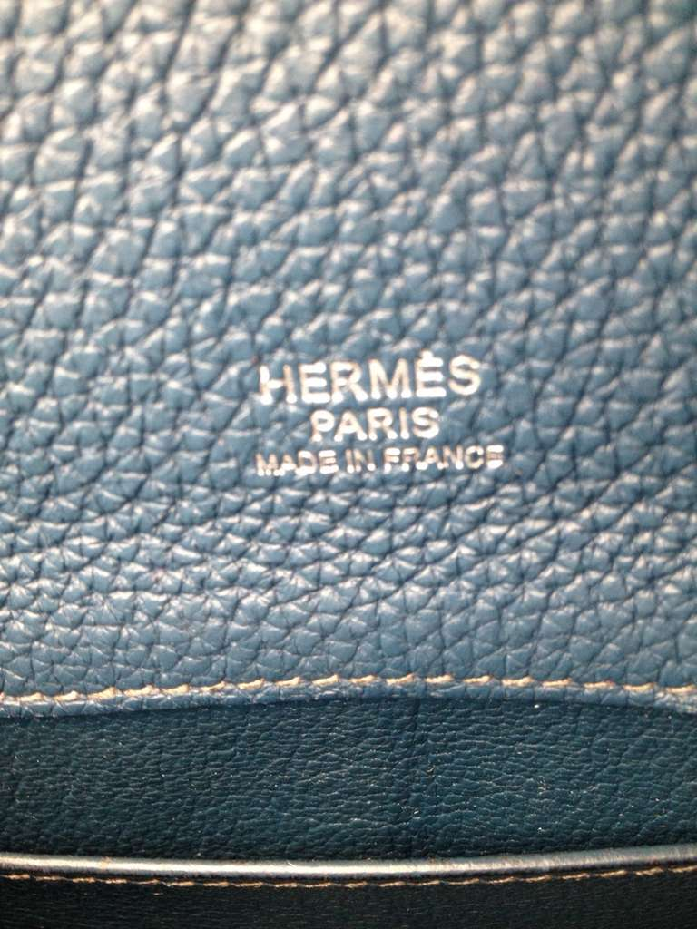 Hermes So Kelly Teal Bag 5