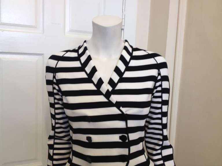 Armani Black and White Striped Jacket 2