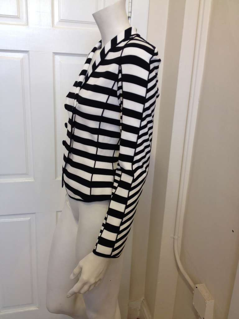 Armani Black and White Striped Jacket 3