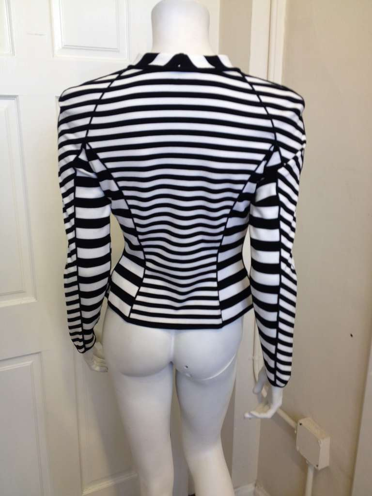 Armani Black and White Striped Jacket 4