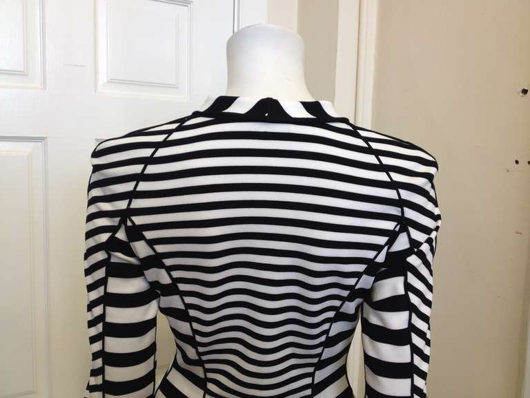Armani Black and White Striped Jacket 5