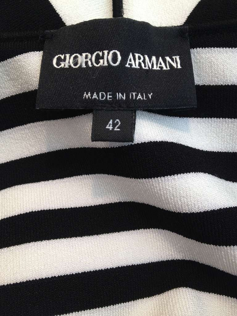 Armani Black and White Striped Jacket 6