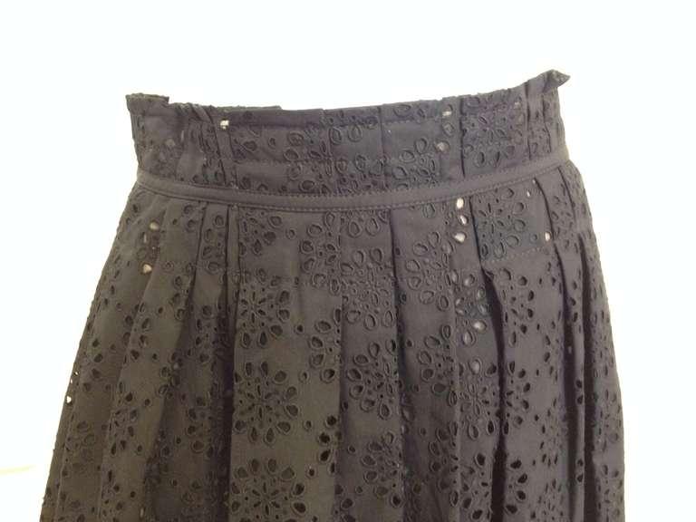 Marc Jacobs Black Eyelet Skirt 2